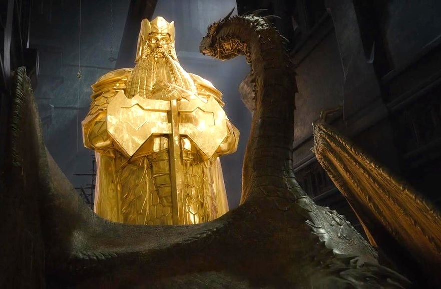 Smaug's affinity for gold - a macroeconomic phenomenon in Middle Earth