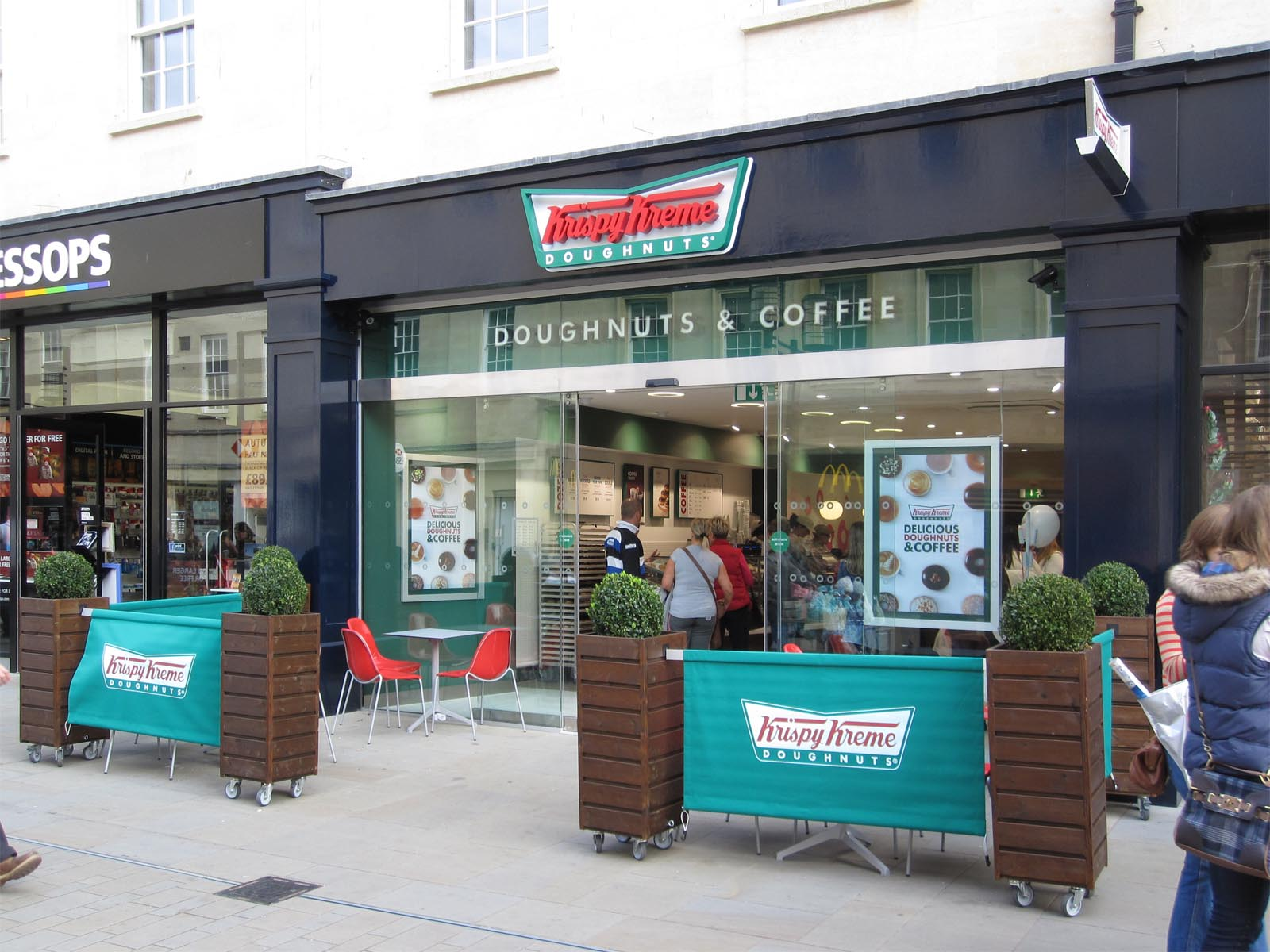 For generations, Krispy Kreme has been serving delicious doughnuts and coffee. Stop by for an Original Glazed doughnut or other variety paired with a hot or iced coffee.